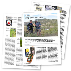 Article on How-to use a GPS hiking