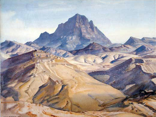 'In the land of the Oratunga' - Hans Heysen's painting of Patawarta Hill, 1932