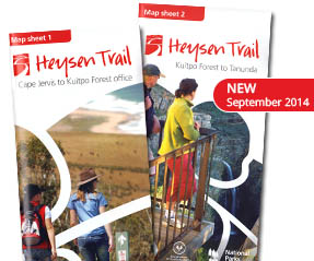 Heysen Trail map sheets, new September 2014