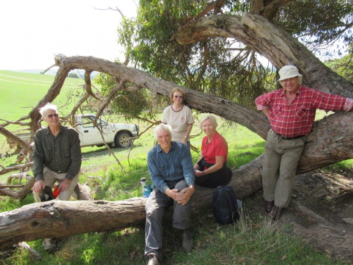 Maintenance team (left to right): Arnulf Mollenhauer, Lawrie Rowley (farmer), Elfi Goels, Monika Hartmann, Hermann Schmidt