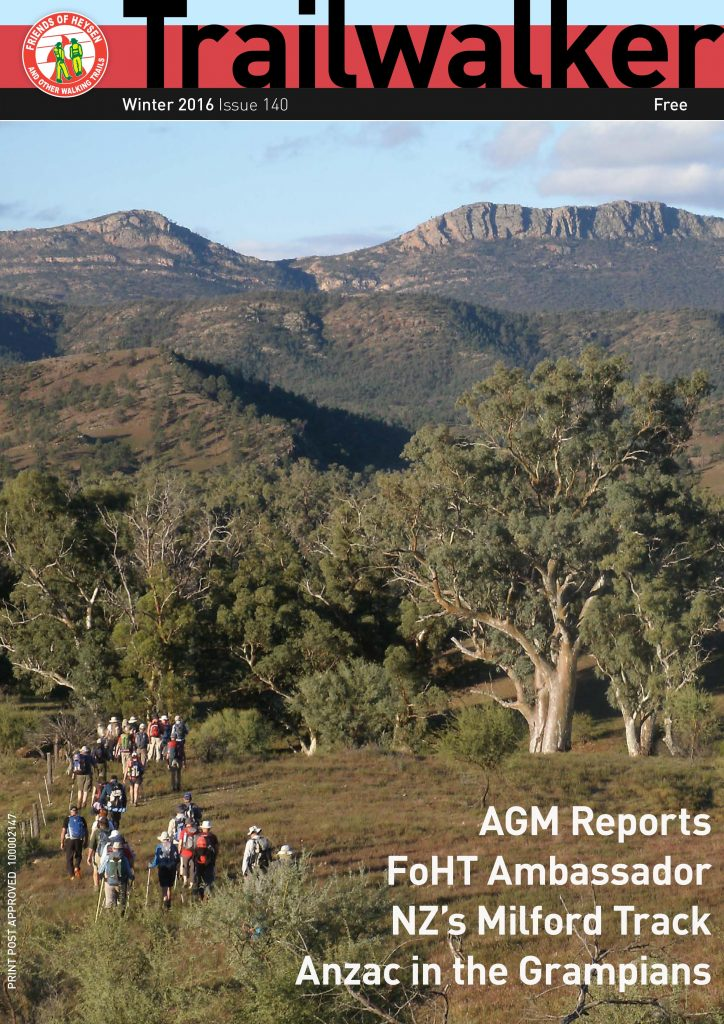 Friends of the Heysen Trail, Trailwalker member magazine, June 2016, issue 140