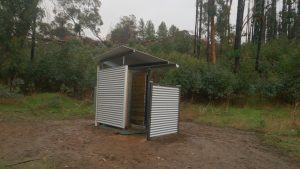 New toilet constructed at Curnows Hut