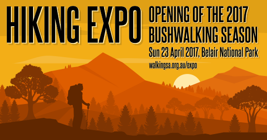 Hiking Expo, Opening of the SA Bushwalking Season, 23 April 2017 at Belair National Park
