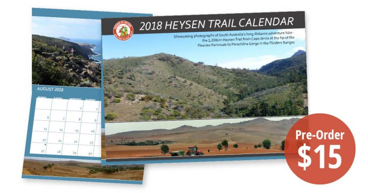 The Friends of the Heysen Trail 2018 calendar photos and orders.