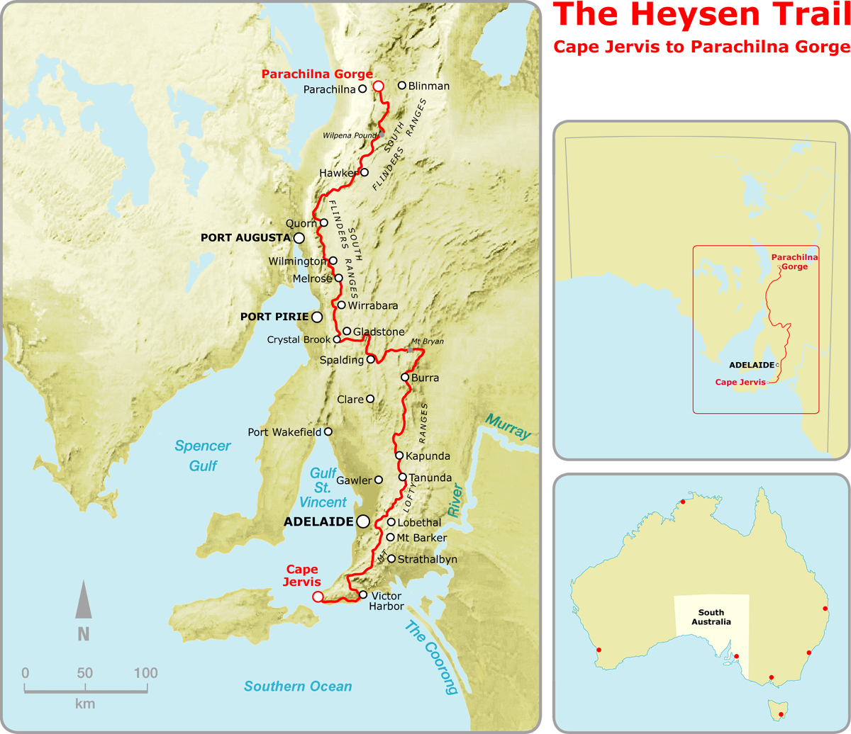 Maps  Guidebooks of the Heysen Trail