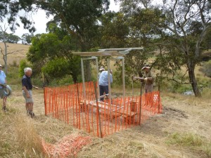Water tank and shelter under construction 2012.