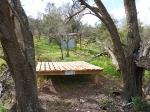 Multi-purpose camping platform
