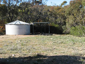 Firefighting water tank - no accessible water