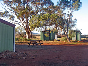 New toilets (background left)