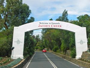 Entrance arch to Tanunda