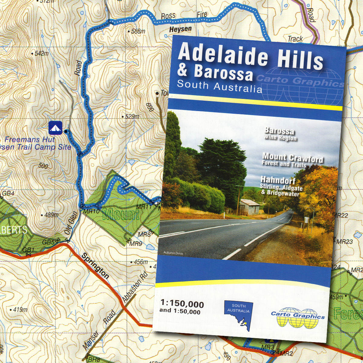 Adelaide Hills Barossa Valley map The Friends of the Heysen Trail