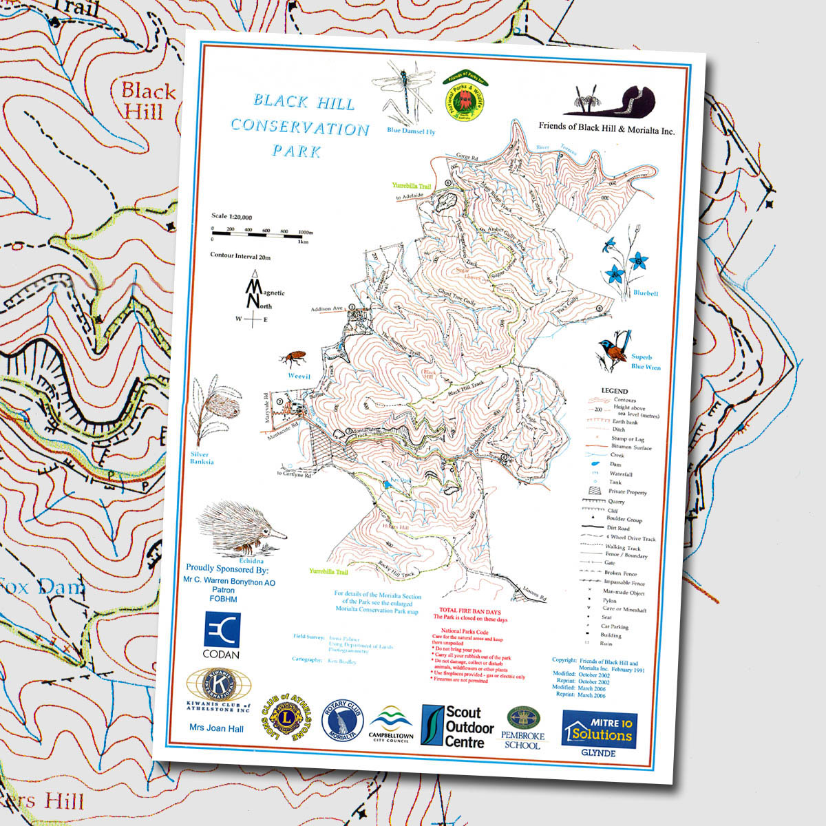 Black Hill Conservation Park topographic map The Friends of the
