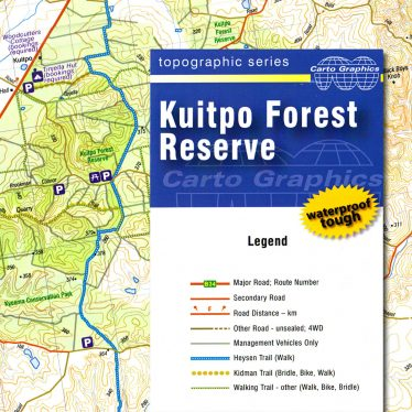 Kuitpo Forest Reserve topographic map