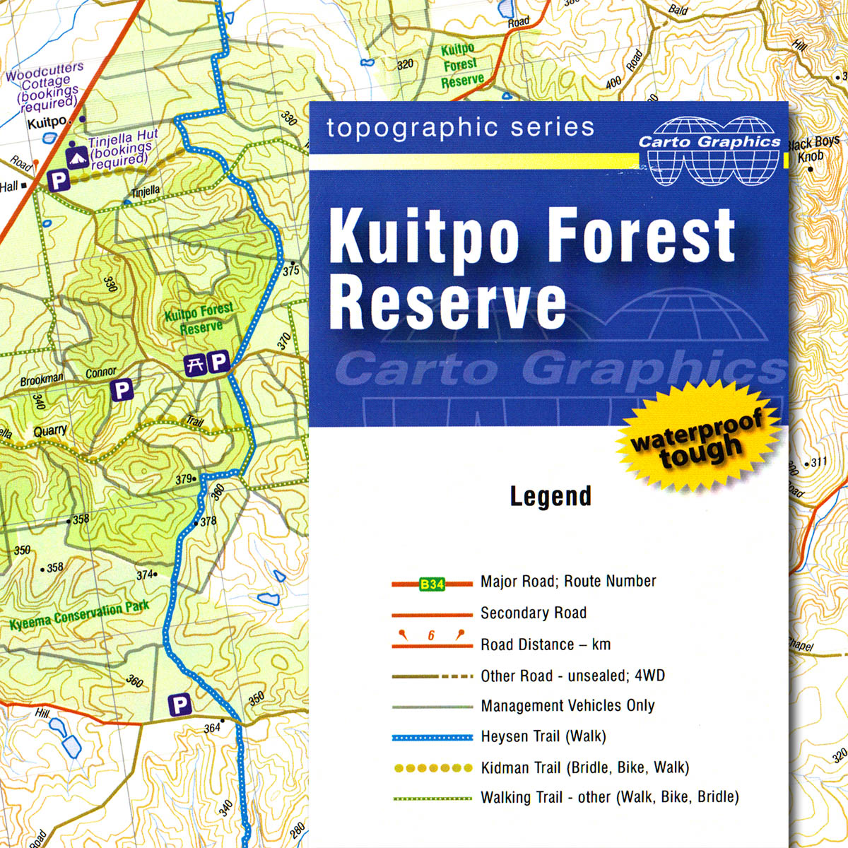 Kuitpo Forest Reserve topographic map The Friends of the Heysen Trail