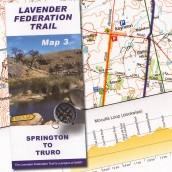 Lavender Federation Trail, Map 3, Springton to Truro cover