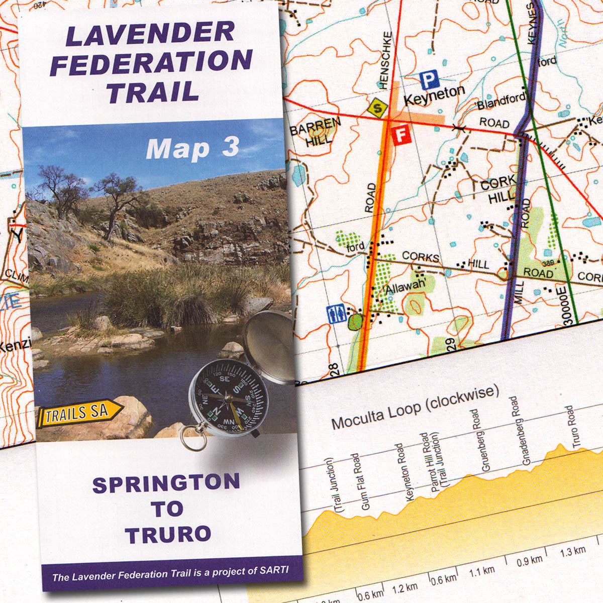 Lavender Federation Trail Map 3 Springton to Truro The Friends