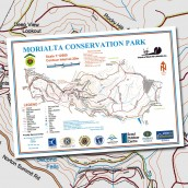 Morialta Conservation Park topographic map cover