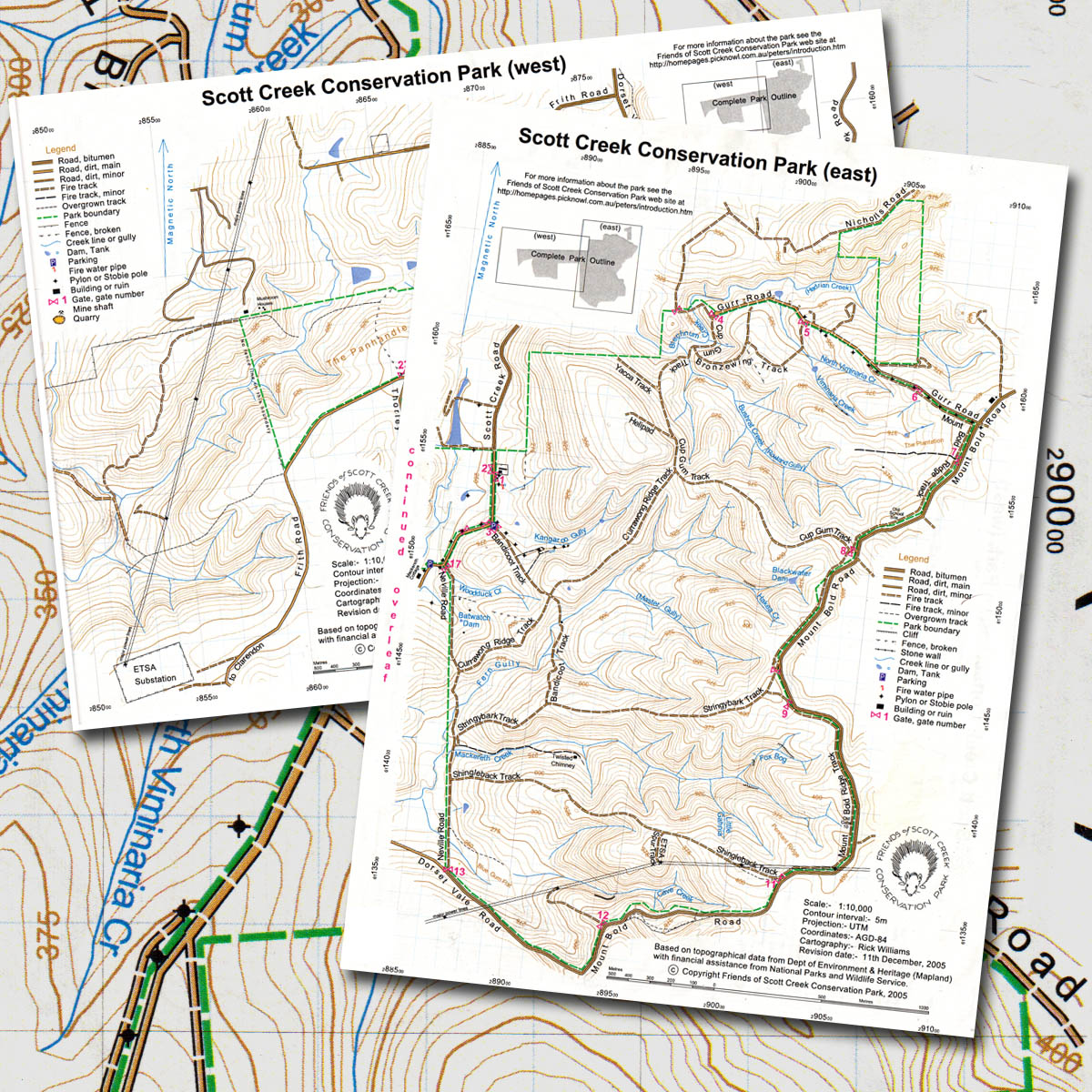 Scott Creek Conservation Park topographic map The Friends of the