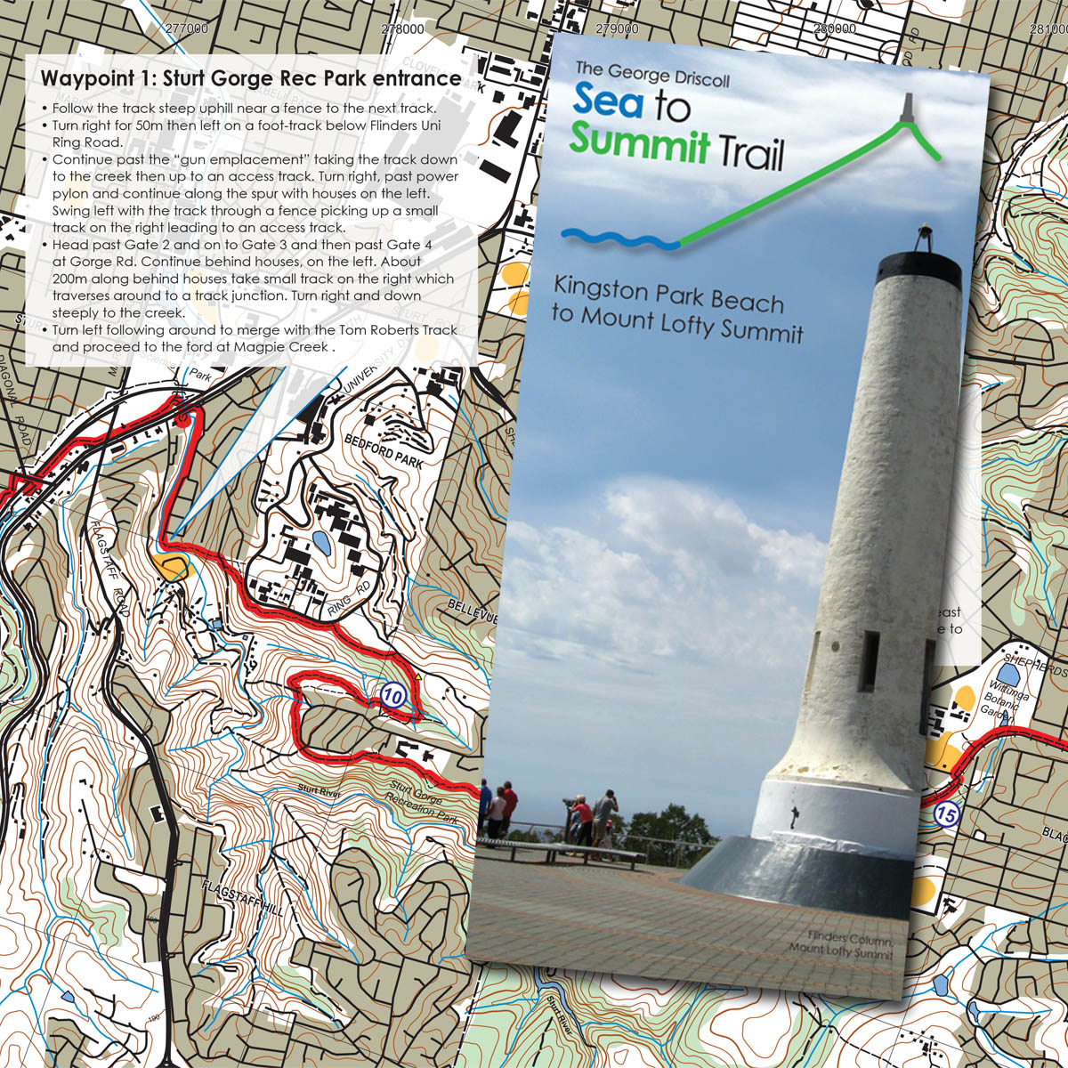 Sea to Summit Trail map | The Friends of the Heysen Trail Summit Map on
