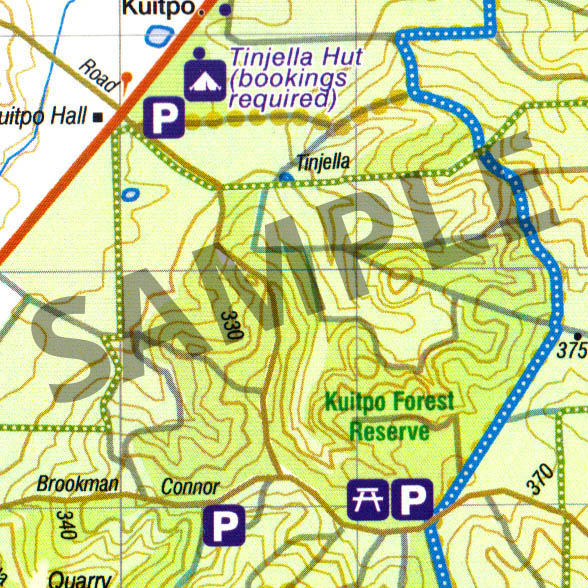 Honduras Topographic Map.Kuitpo Forest Reserve Topographic Map The Friends Of The Heysen Trail