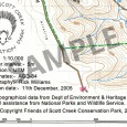 sample copyright notes Scott Creek Conservation Park topographic map