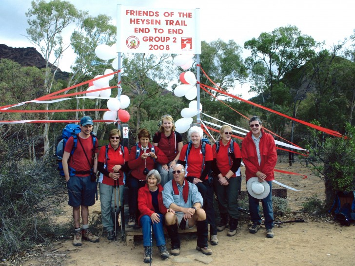 End-to-End 2 group finishes at Parachilna Gorge, the Heysen Trail