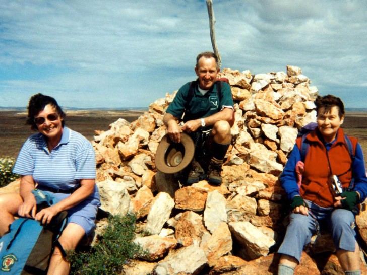 Summit of Mt Hopeless. Gail Rees, Colin Beer and Thelma Anderson