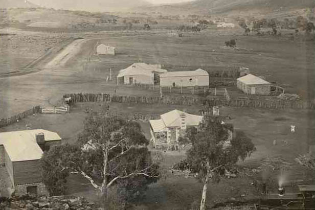 Willow Brewery (on left) and managers house c1880