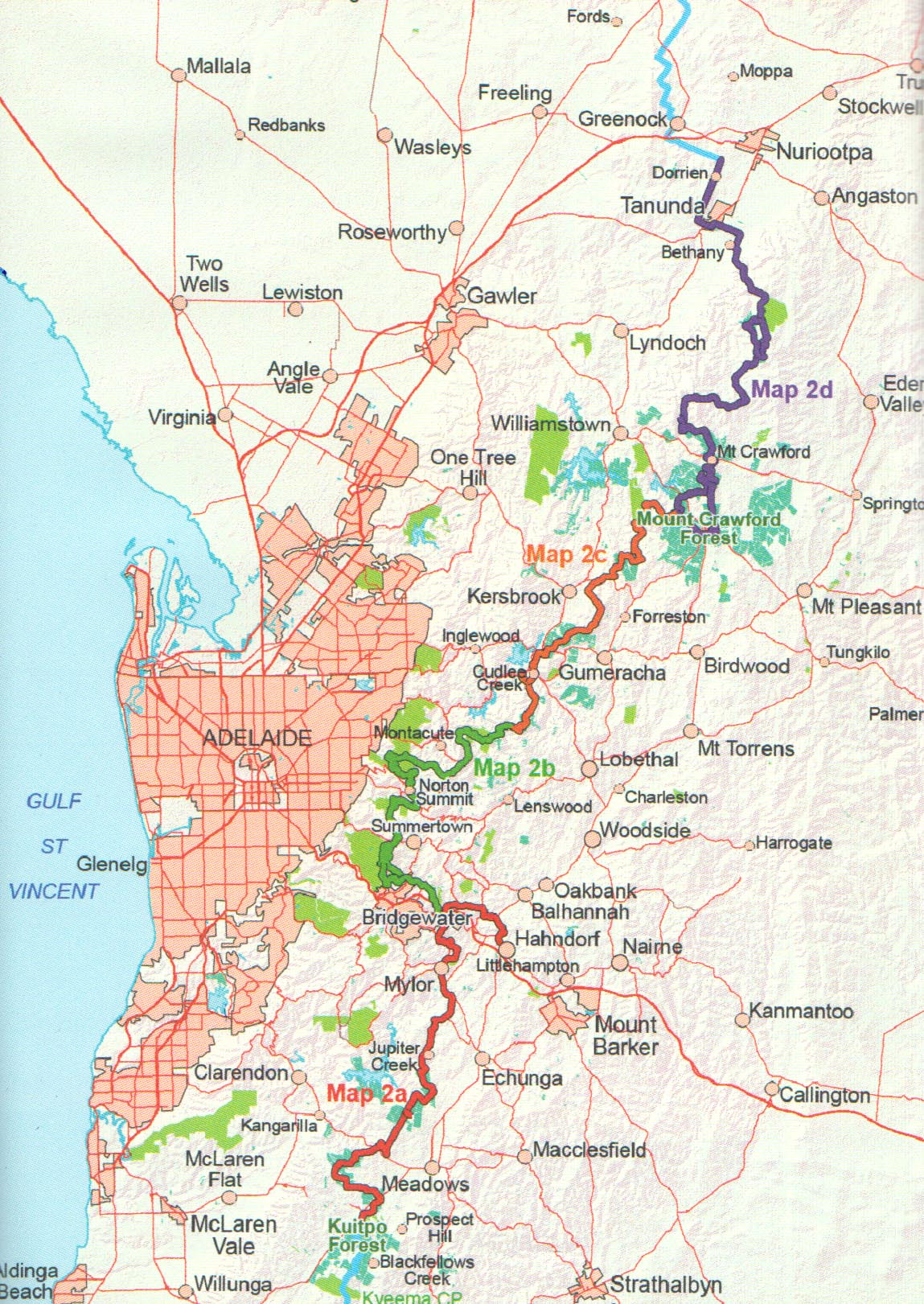 Heysen Trail Sheet Map 2 Kuitpo Forest To Tanunda The