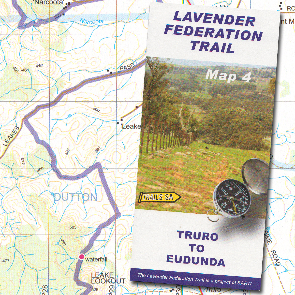 Lavender Federation Trail Map 4 Truro to Eudunda The Friends of