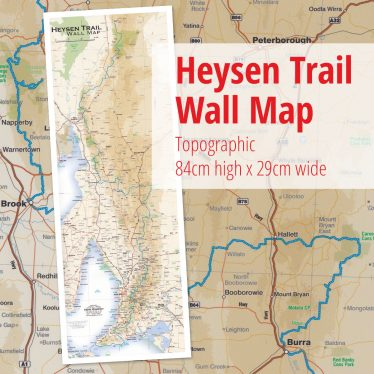 Heysen Trail overview wall map