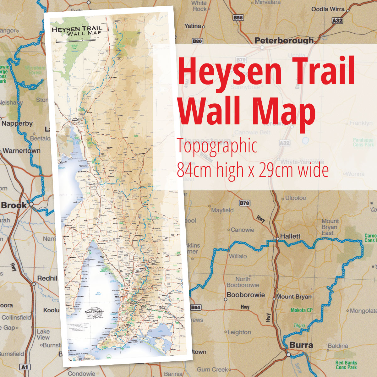 Heysen Trail overview wall map | The Friends of the Heysen Trail
