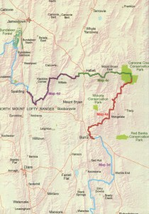 Coverage of map: Heysen Trail sheet map 4, Burra to Spalding