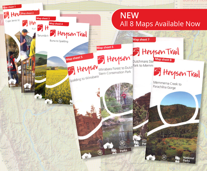 Purchase any of the new 8 new sheet maps for Heysen Trail