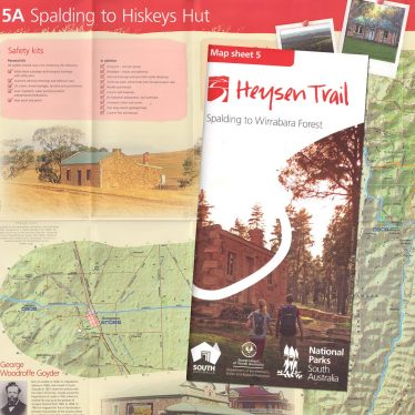 Heysen Trail sheet map 5, Spalding to Wirrabara Forest