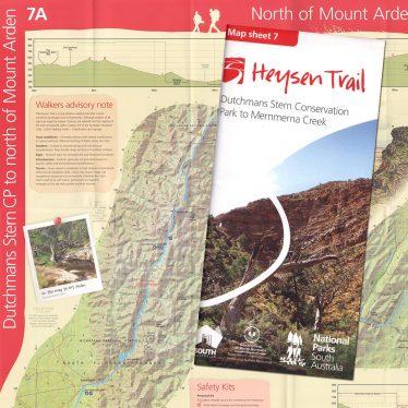 Heysen Trail sheet map 7, Dutchmans Stern Conservation Park to Mernmerna Creek