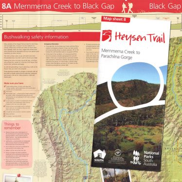Heysen Trail sheet map 8, Mernmerna Creek to Parachilna Gorge