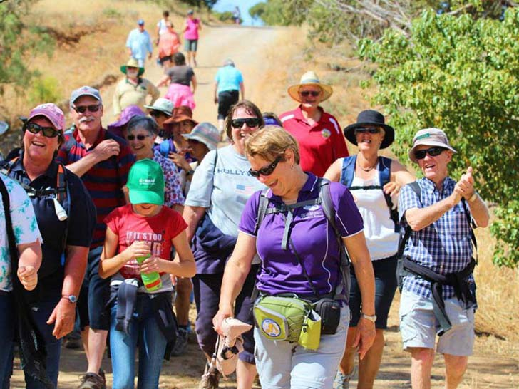 Official opening walk from Port Vincent