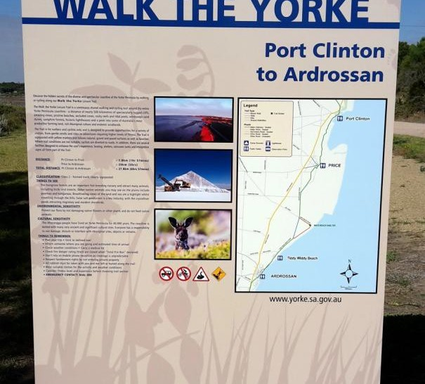 Walk the Yorke town signage
