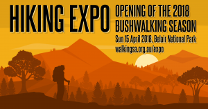 It's on again! The Hiking Expo, Belair National Park, Sunday April 15th.