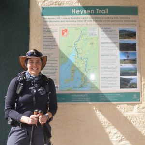 Briony Ankor who through-walked the Heysen Trail to raise awareness and funds for narcolepsy