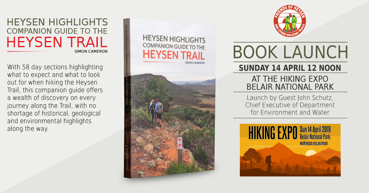 During this Sunday's Hiking Expo we'll be officially launching our Heysen Highlights book