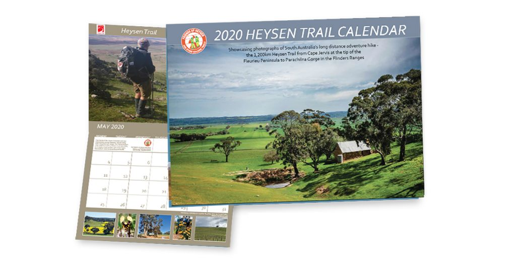 Friends of the Heysen Trail 2020 calendar available for order now. Only $12!