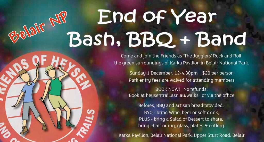 The Friends End of Year Bash is on again at Karka – December 1st 2019