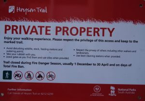 Sections of the Heysen Trail now closed over the Fire Danger Season 2020/21