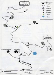 Mount Brown Bush Camp mudmap