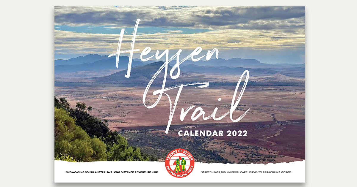 Friends of the Heysen Trail 2022 calendar available for order now. Only $12!